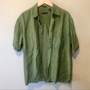 VAN HEUSEN Linen Button Down | Size S